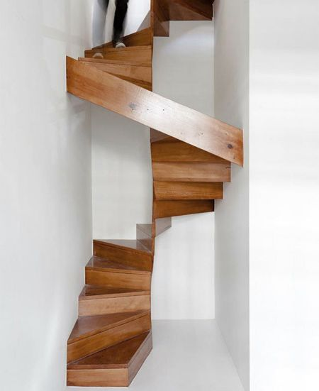 Stair Design Budget And Important Things To Consider: Switchback Stairs Modern Contemporary For Small Space