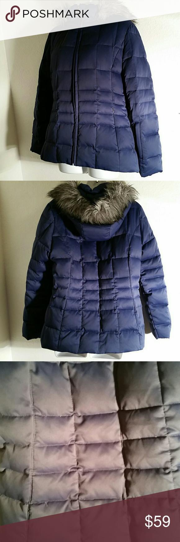 Calvin Klein Navy Blue Down Puffer Jacket M Clothes Design Fashion Jackets [ 1740 x 580 Pixel ]