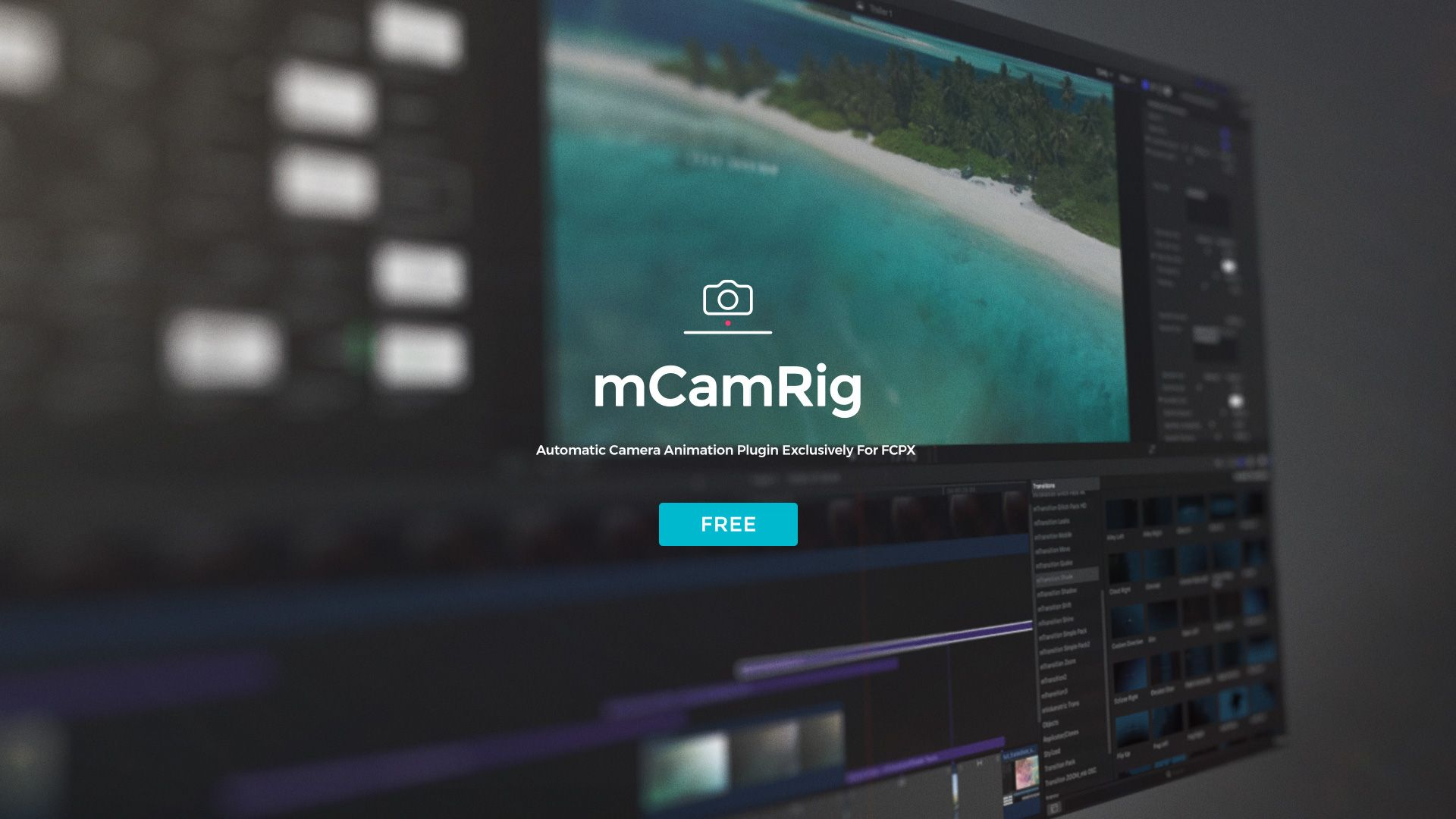 Free Fcpx Plugin Mcamrig Available Now Http Bit Ly Mcamrig Finalcutprox Apple Videoediting Design Plugins Video Editing Free