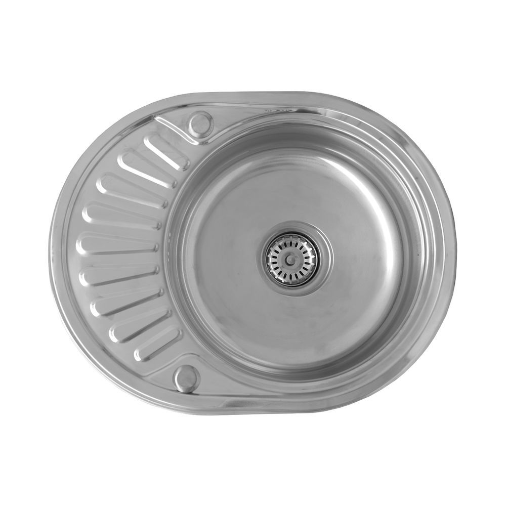 Compact 10 single bowl reversible round inset kitchen sink with compact 10 single bowl reversible round inset kitchen sink with drainboard ebay workwithnaturefo