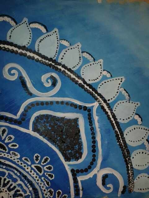 Acrylverf,  penseel en wattenstaafje