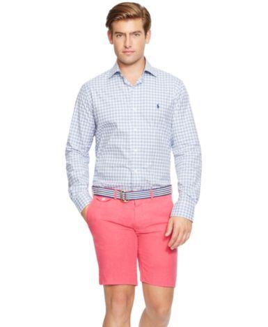 Polo Ralph Lauren Checked Poplin Shirt - Casual Button-Down Shirts - Men - Macy's