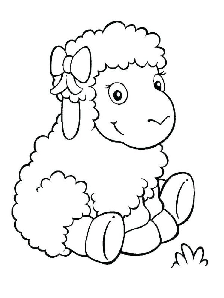 Of Sheep Baby Coloring Pages Animal Coloring Pages