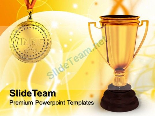 Risk Strategy Powerpoint Templates Winner Trophy Success Education Ppt Themes PowerPoint