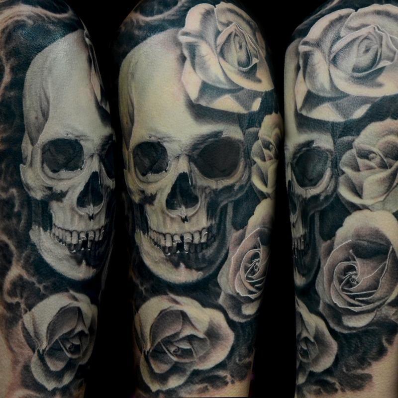 Dark Water Tattoos Rose Tattoos For Men Skull Rose Tattoos Tattoos For Guys