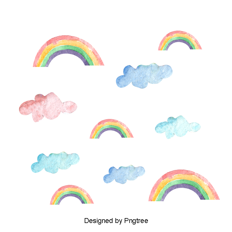 Rainbow Printing Watercolor Rainbow Printing Color Rainbow