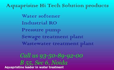 A custom water treatment solution  Aqua pristine hi tech solution