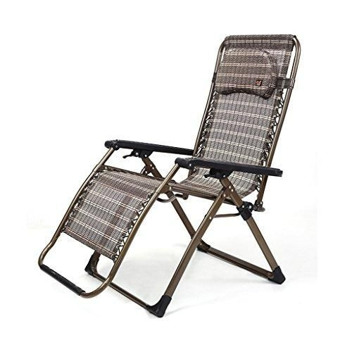 Photo of Gai Hua Home Chaise Lounges Lounge Chair Folding napping Chair Office Summer Chair Leisure Senior Chair Pregnant Woman Balcony Chair (Color : Brown)
