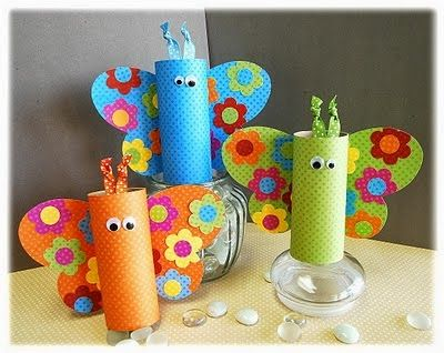 10 Manualidades Con El Rollo De Papel Higiénico Spring Crafts For Kids Butterfly Crafts Crafts For Kids