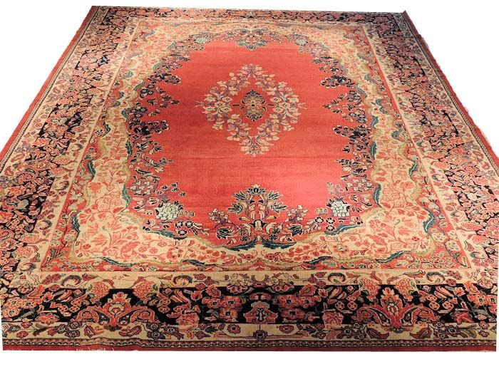 Semi Antique Persian Rug Mahal Semi Antique Mahal 100 Wool With Cotton Foundation With 100 Vegetable Dyes Antique Persian Rug Persian Rug Rugs