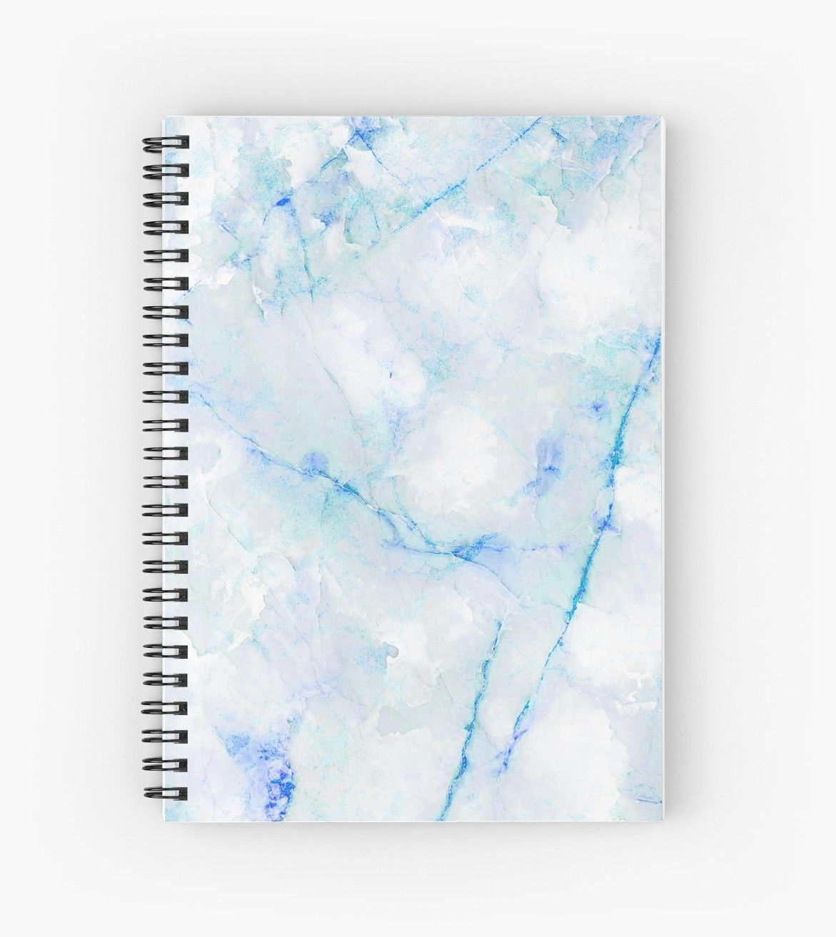 White And Blue Marble Pattern Spiral Notebook Cute Notebooks