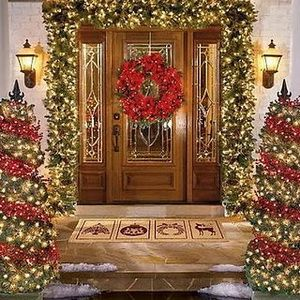 There are really amazing ideas how to decorate the front door and below I  made a gallery of 31 creative front door Christmas decorations.