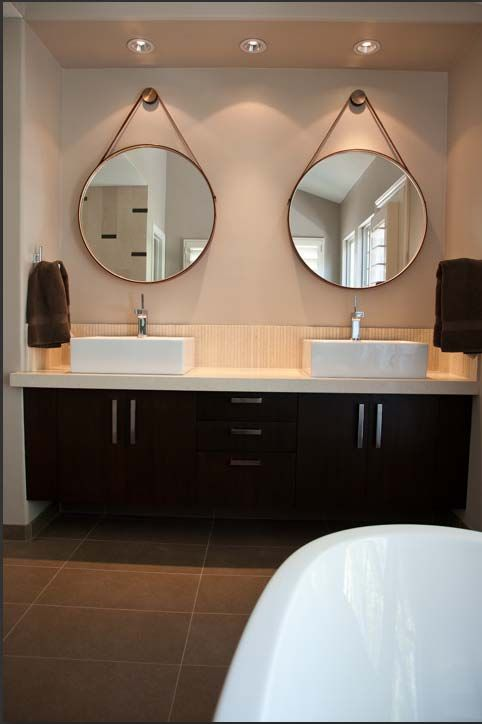 even though it looks kinda like a hotel bathroom i like it still-and it would be so easy to do too!