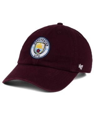 dfbcad1079d57  47 Brand Manchester City Clean Up Cap - Red Adjustable.