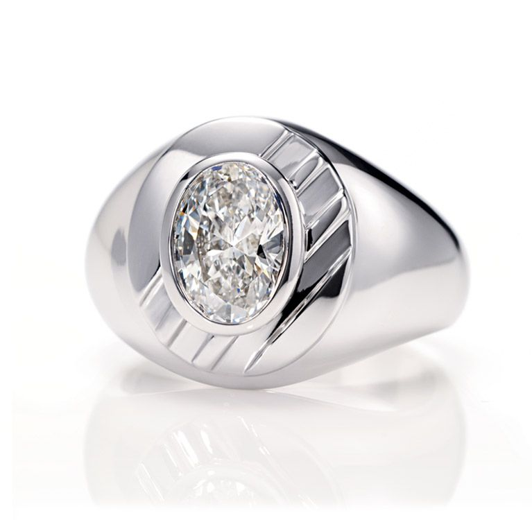 Harry Winston Men By Thom Browne Diamond Cl Ring