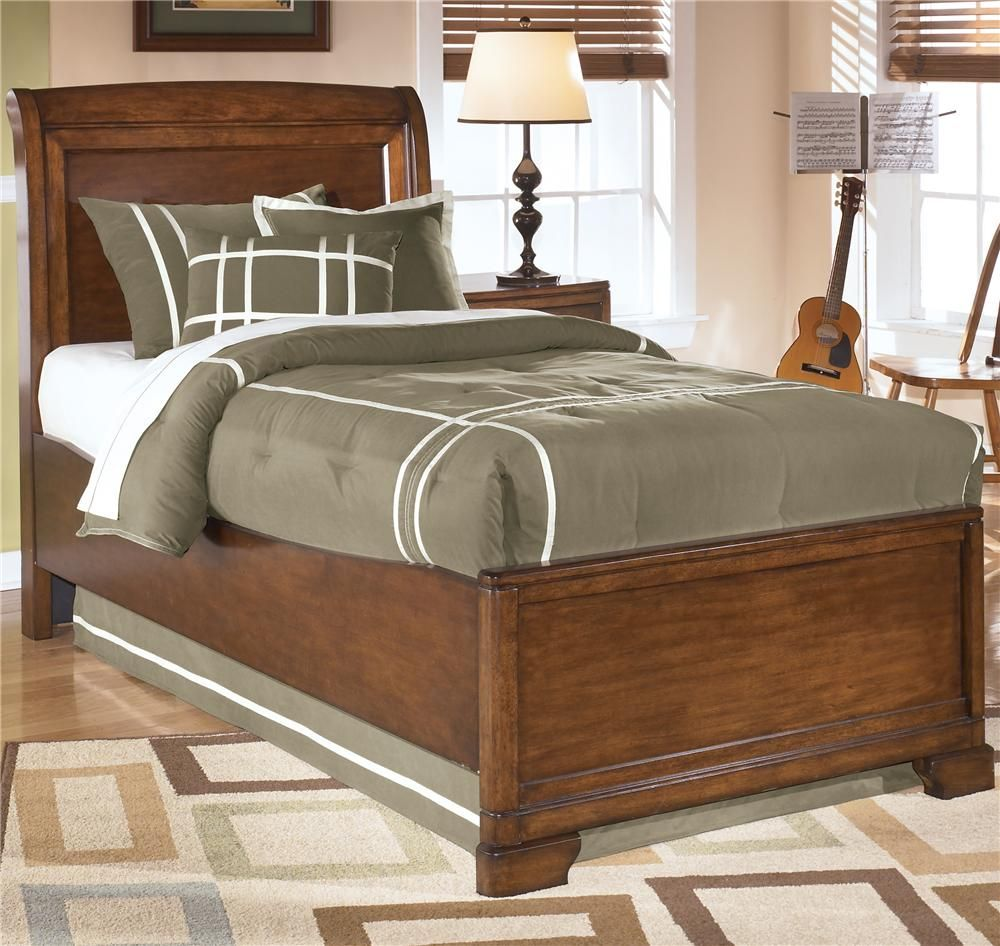 Alea Twin Sleigh Bed By Signature Design By Ashley This Simple