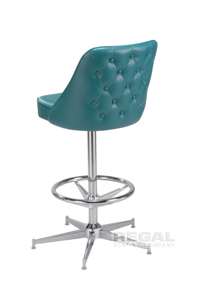 Tufted Teal Bar Stool Doesn T Match Anything But Appropriately