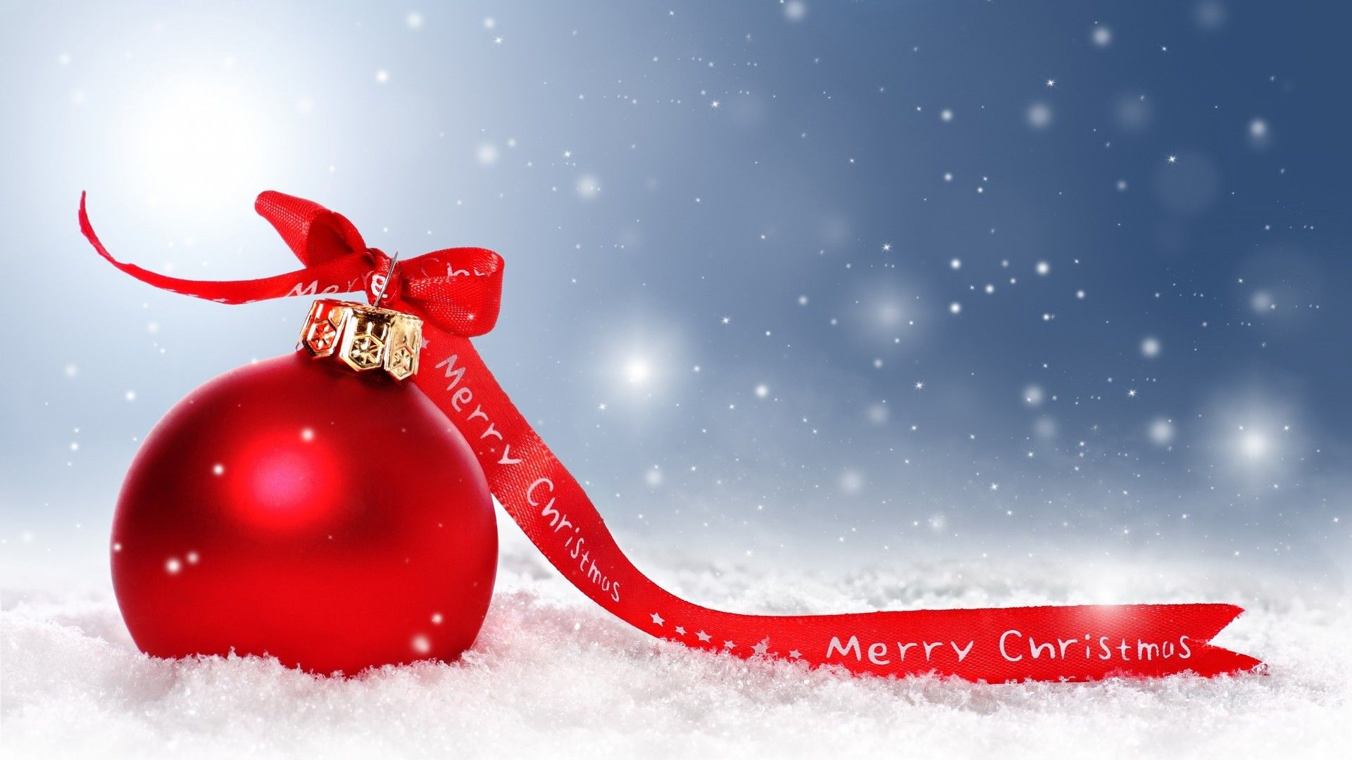 wallpaper download 1920x1080 big red christmas ball - merry