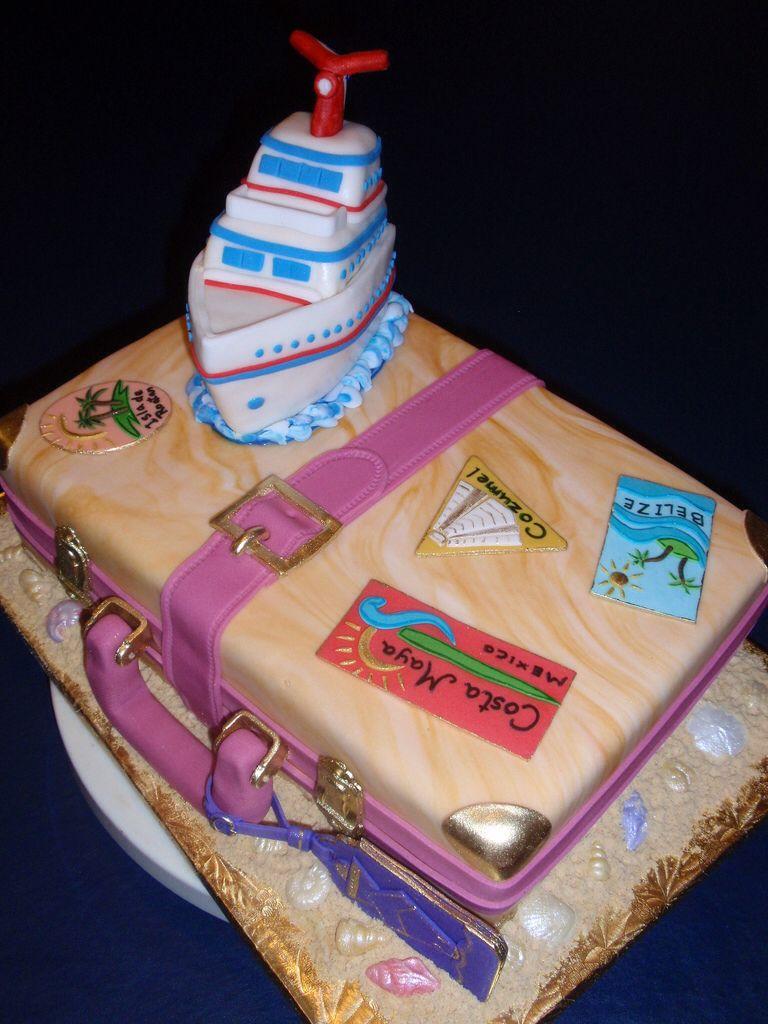 Luggage with Cruise Ship
