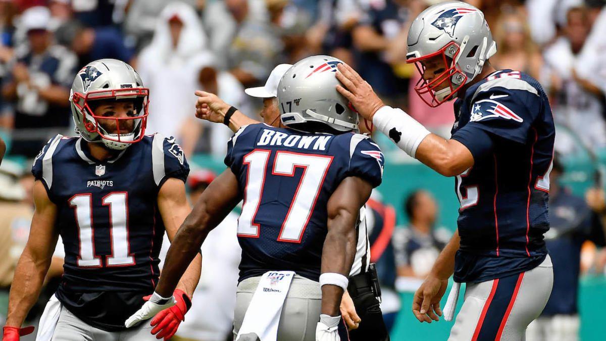 Patriots defense shines, Antonio Brown scores in debut as