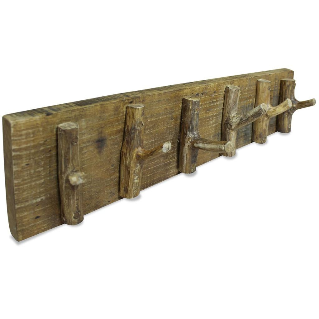 Rustic Coat Hooks Vintage Handmade Wall Mount Rack Farmhouse Solid Reclaimed Wood Wall Mounted Coat Rack Rustic Coat Hooks Rustic Coat Rack