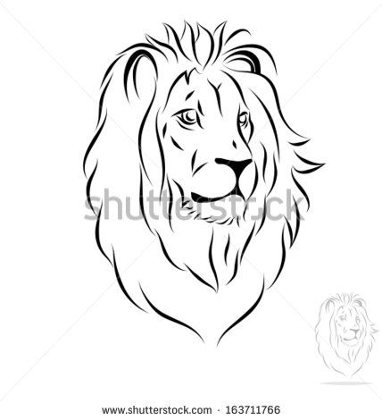 Stylized Lion Head Front View Black Outlines Vector Illustration Tribal Lion Tattoo Africa Tattoos Lion Tattoo Page 1 of free vector lion head. pinterest