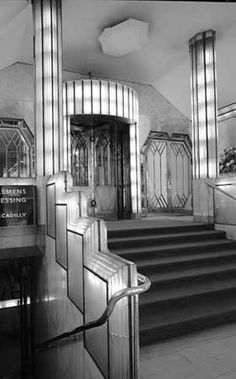 Foyer from the strand palace hotel 1930 31 london art for 1930s hotel decor