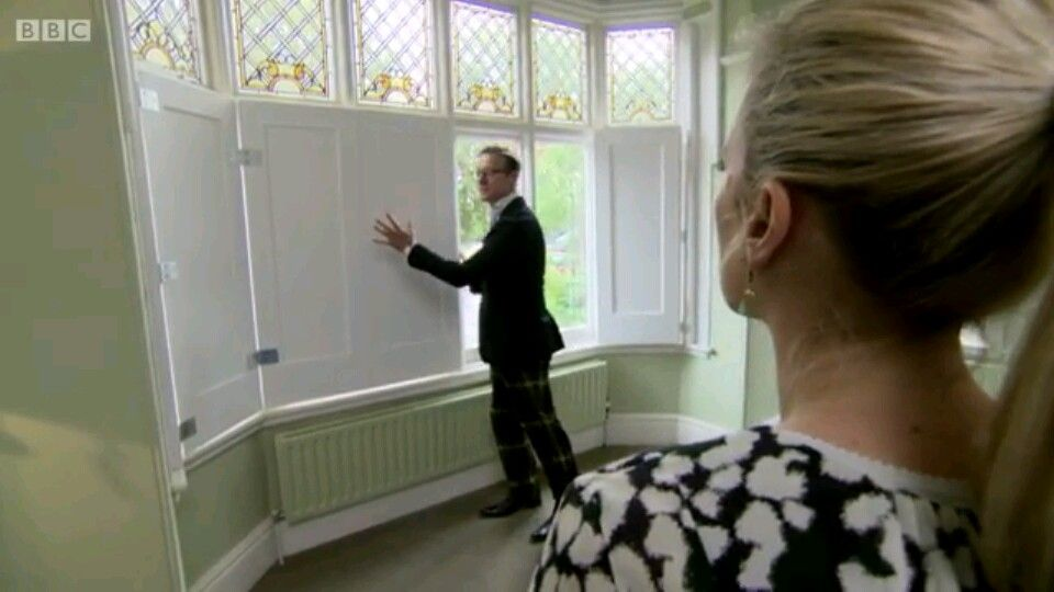 The MDF window shutters I made on 'the great interior design show' for the