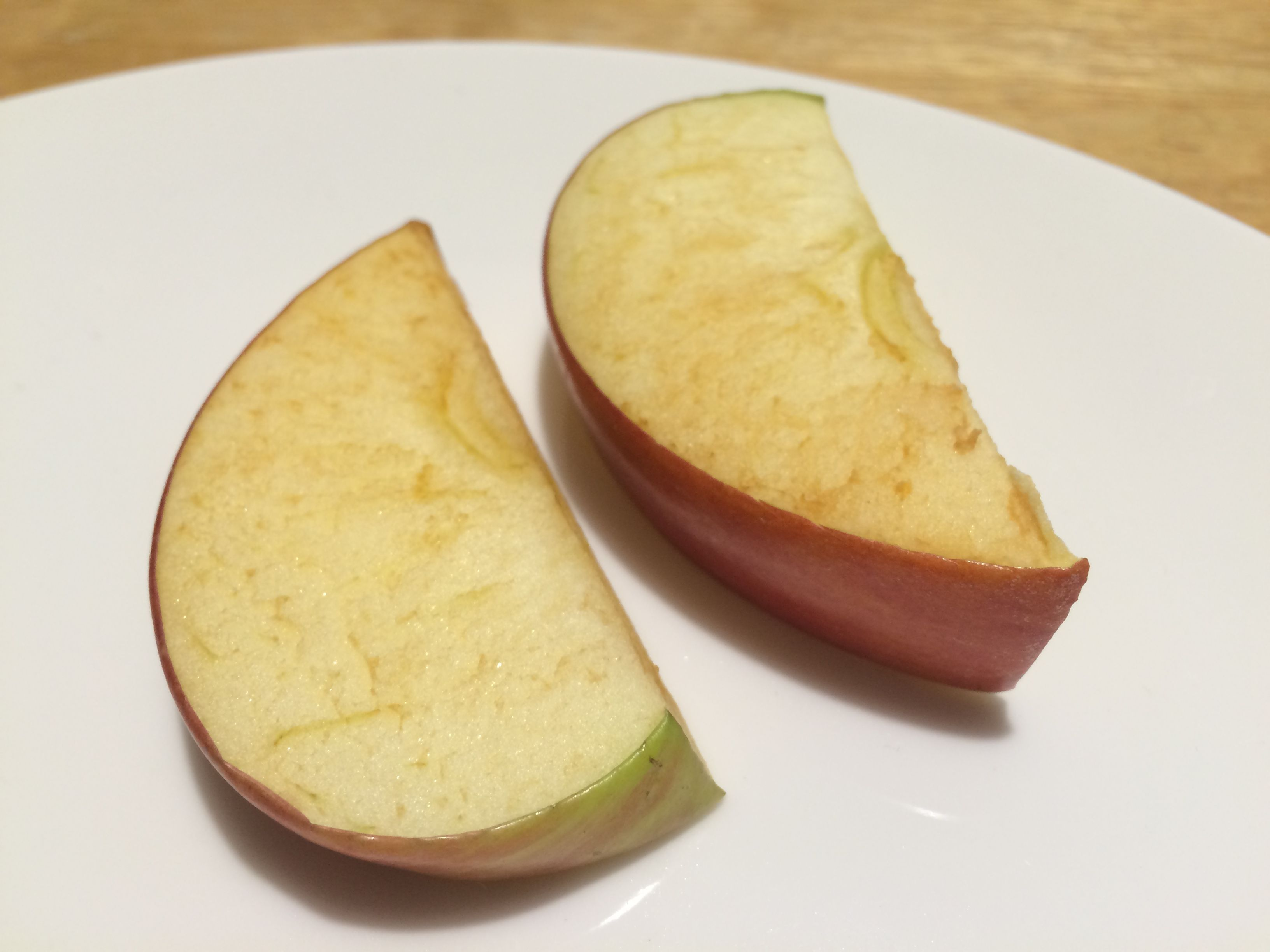 Apple slices turned brown Are they bad apples, or just