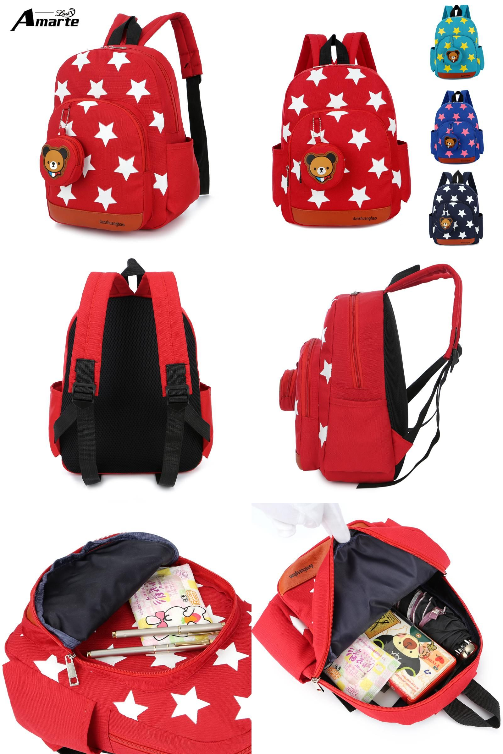 Visit to Buy  2017 New Cute Starts Printed Kids Bags Fashion Nylon  Children Backpacks 79ee570c1f