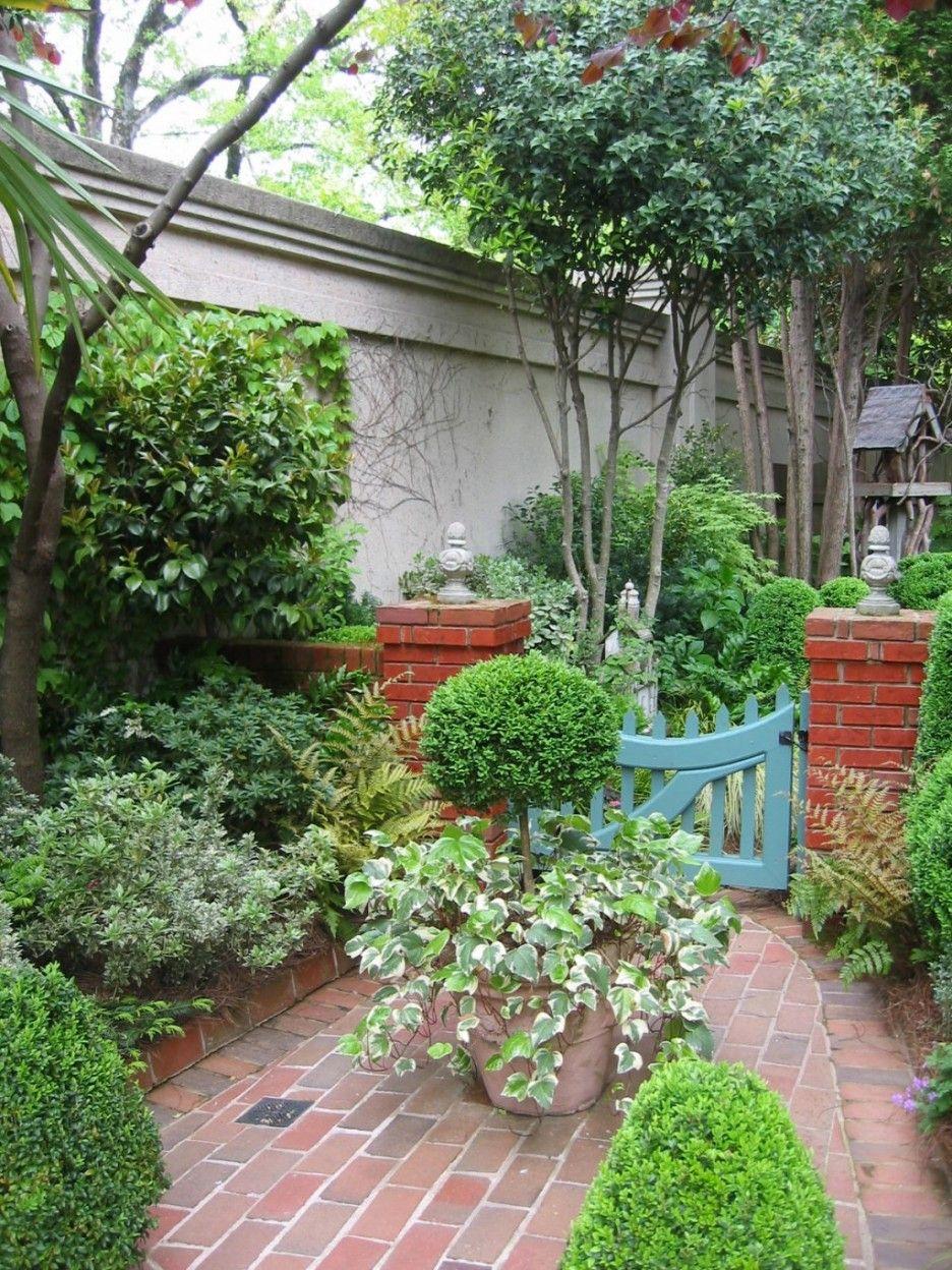 exterior. beautiful courtyard garden