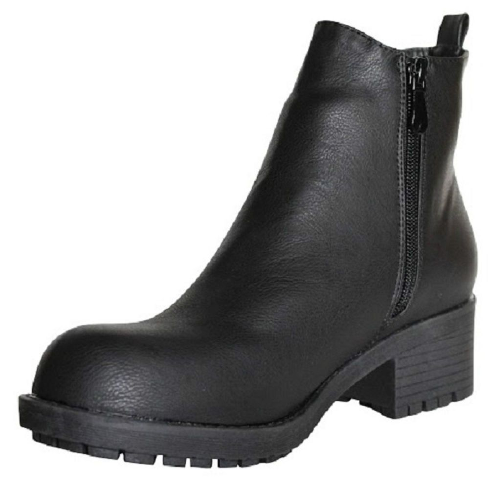LADIES WOMENS FLAT CHELSEA ANKLE WORK BOOTS CASUAL ZIP SHOES SIZE 3-8