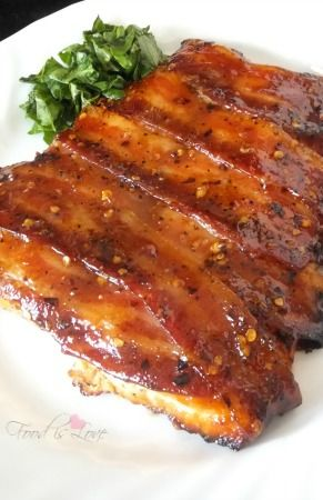 Spicy Bacon Wrapped Salmon-FoodisLoveRecipes