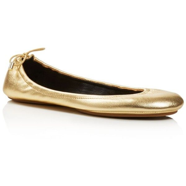 f72e5c6785c8 kate spade new york Globe Metallic Leather Travel Ballet Flats ...