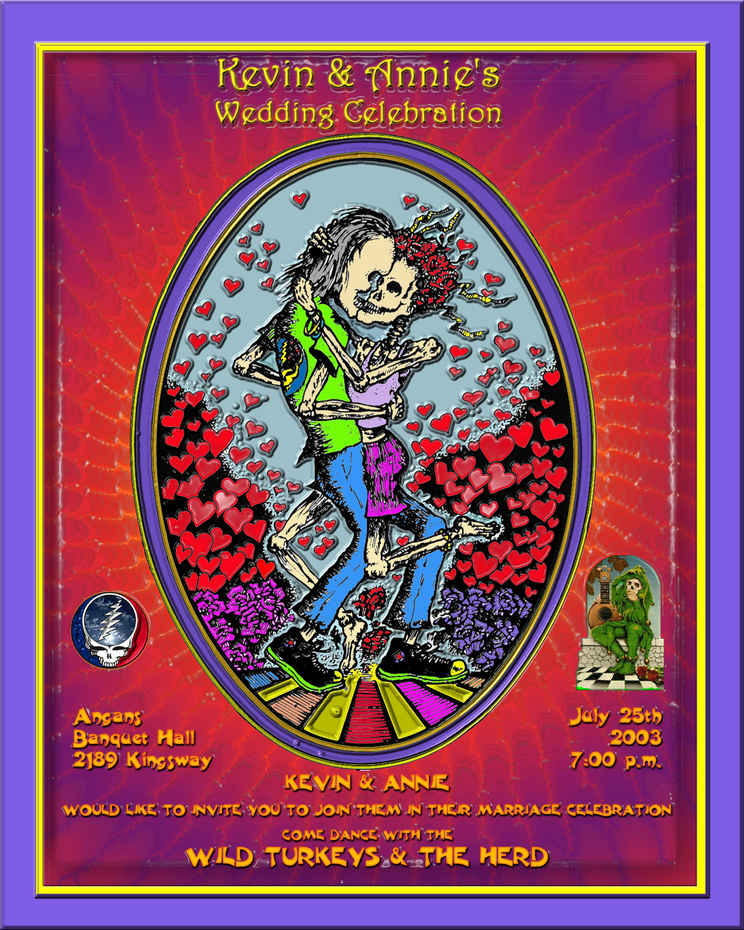 Grateful Dead Wedding Invitation To Love Phil Lesh And Friends Grateful Dead Jerry Garcia Band