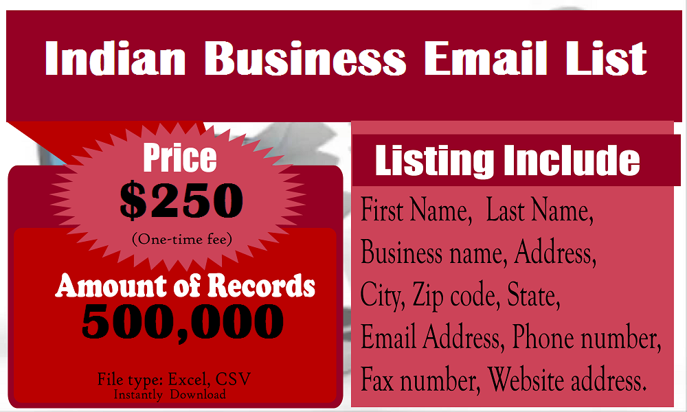 Indian Business   Business Email List   Business emails