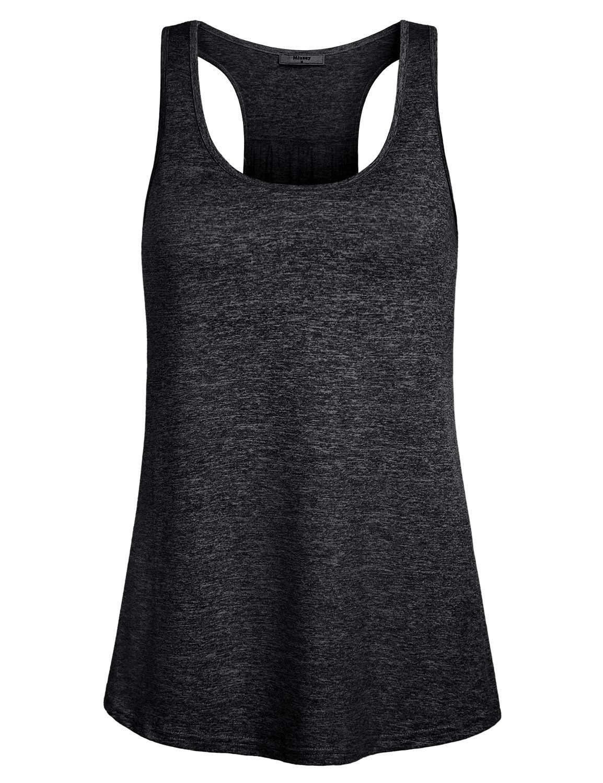 3944aa23565183 Miusey Womens Sleeveless Loose Fit Workout Yoga Racerback Tank Top ...