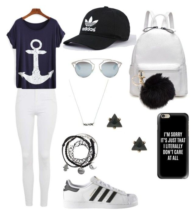 """#Summer"" by aralliy on Polyvore featuring Topshop, adidas, Christian Dior and Casetify"