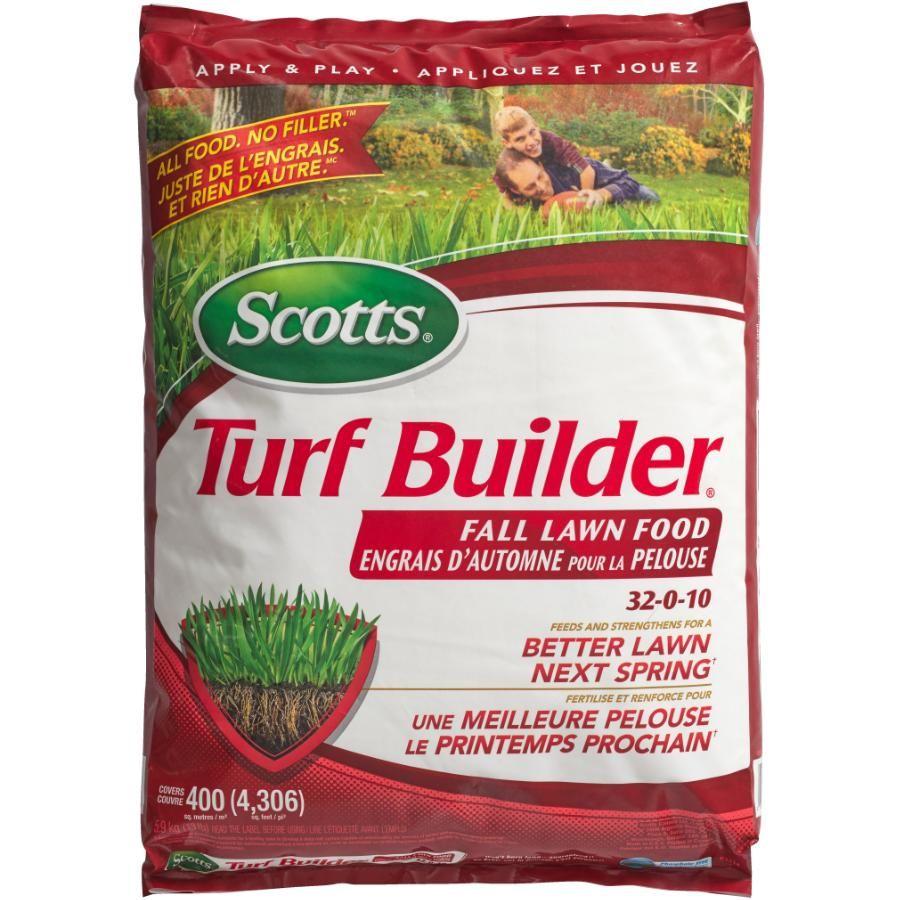 Get the scotts 32010 turf builder fall fertilizer