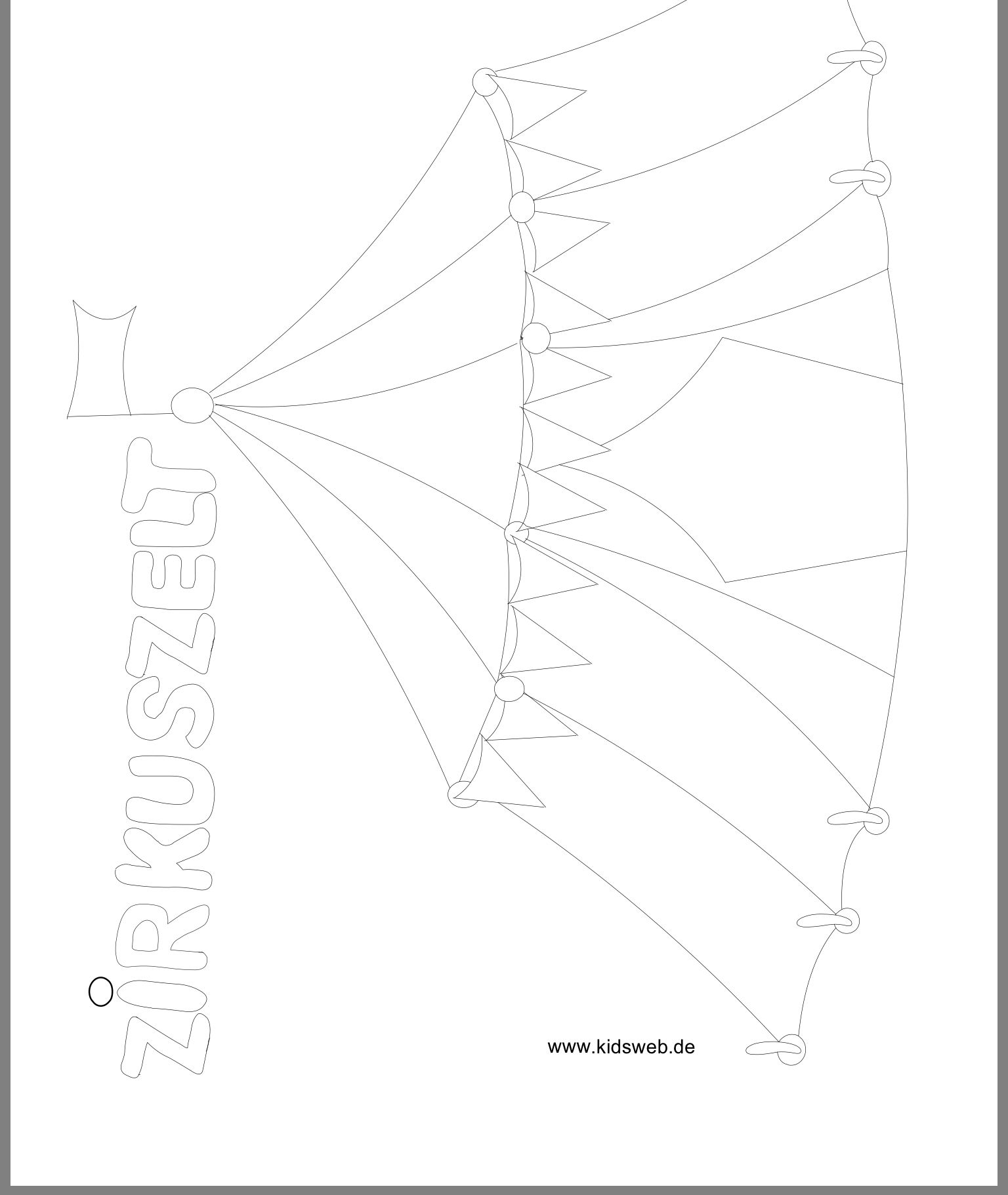 ausmalbilder zirkus kidsweb  amorphi