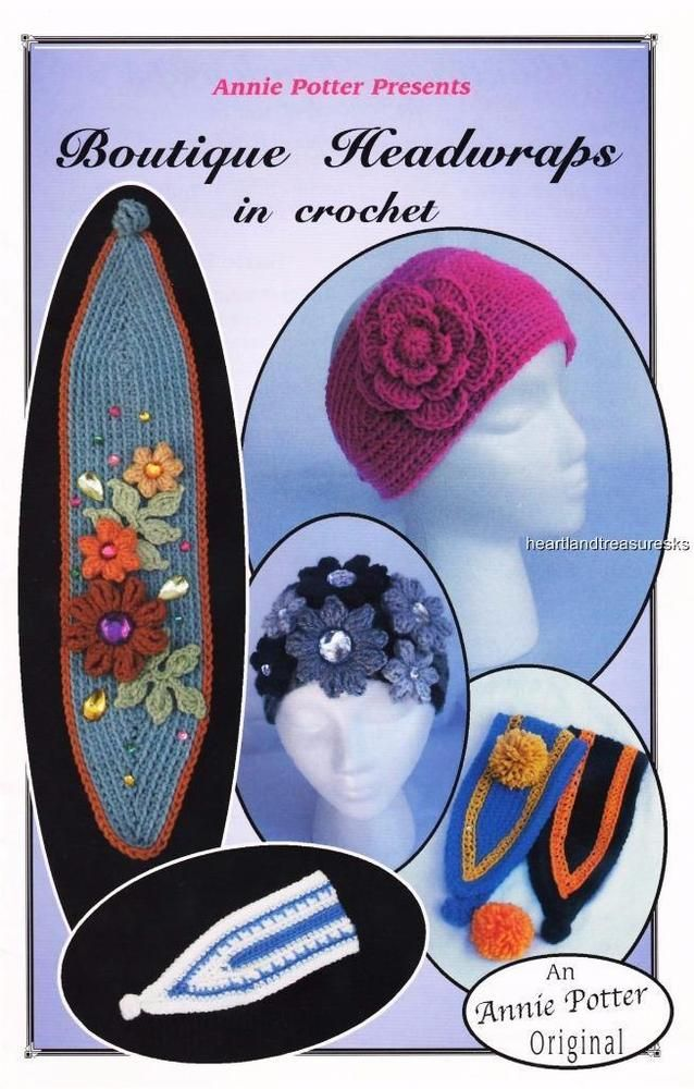 Boutique Headwraps in Crochet Annie Potter Presents Crochet Pattern ...
