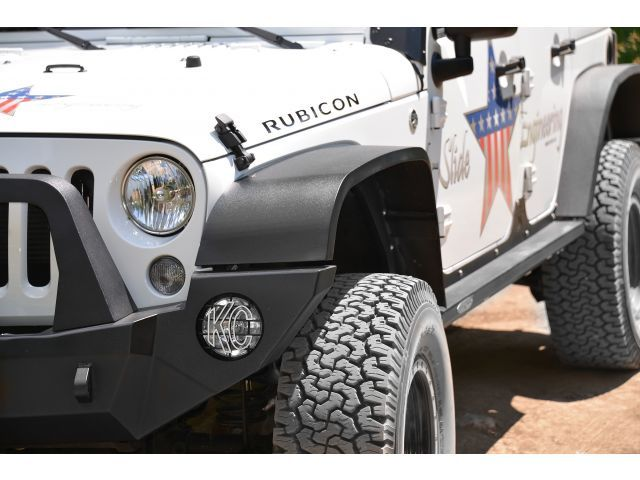 Rock Slide Engineering Full Length Aluminum Front Fender Flares In Black Upgrade Your Fenders From Weak And Vulnerable To Strong A With Images Fender Flares Jeep Jk Jeep
