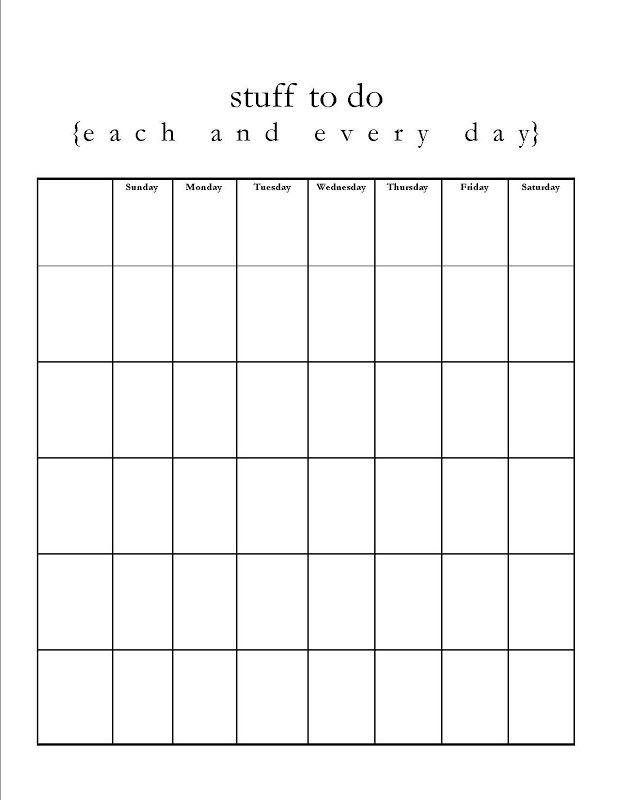 photograph about Printable Blank Chart named Absolutely free Printable Blank Charts flipflops and applesauce