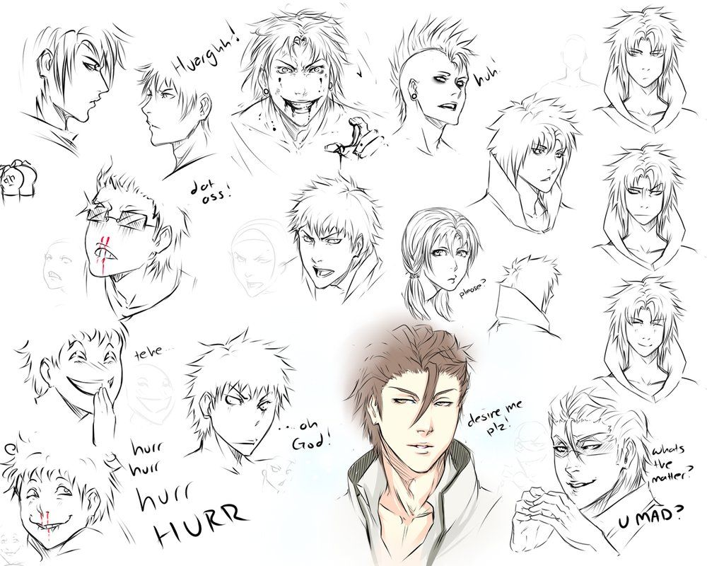 Drawing different expressions drawing reference with