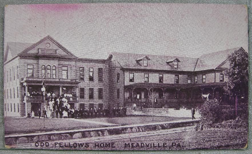 1900 S Meadville PA Postcard Odd Fellows Home