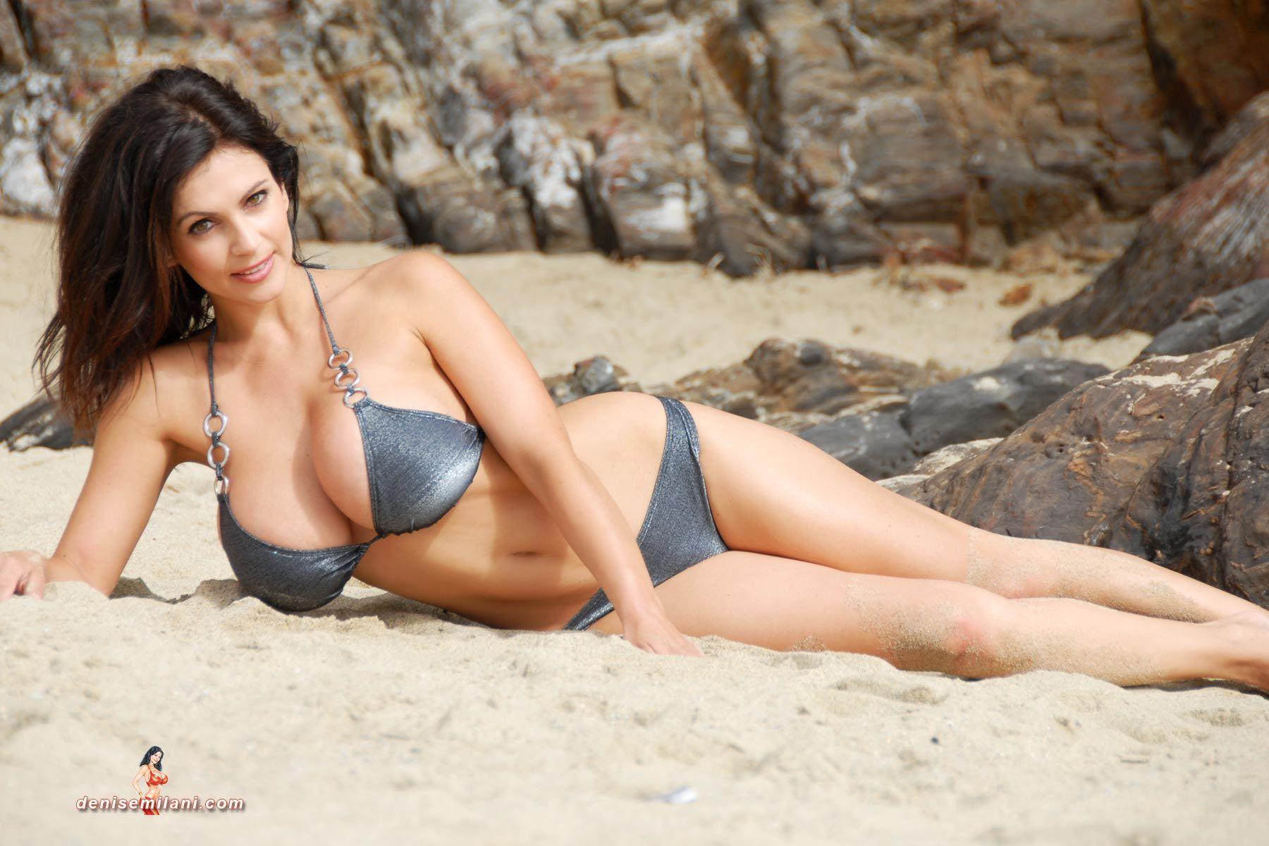 Denise milani silver bikini