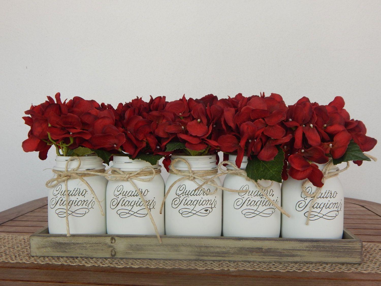 Matrimonio Bianco Natale : Vasi dipinti quot bianco natale set barattoli