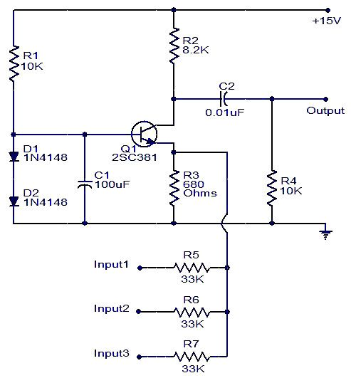 Cool Single Transistor Audio Mixer Electronics Basics Electronics Wiring Database Ioscogelartorg