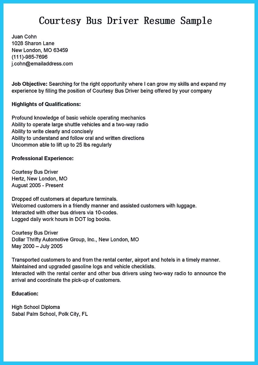 Awesome Stunning Bus Driver Resume To Gain The Serious Bus Driver Job Check More At Http Snefci Org Stunning Bus Driver Re Driver Job Resume Resume Examples