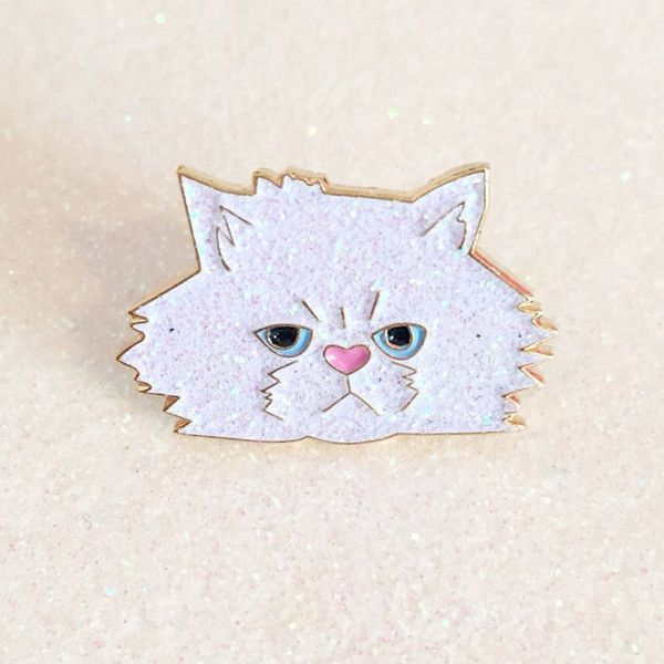 Kitten enamel pin ($10) ❤ liked on Polyvore featuring jewelry, brooches, pin jewelry, enamel jewelry, enamel brooch and pin brooch